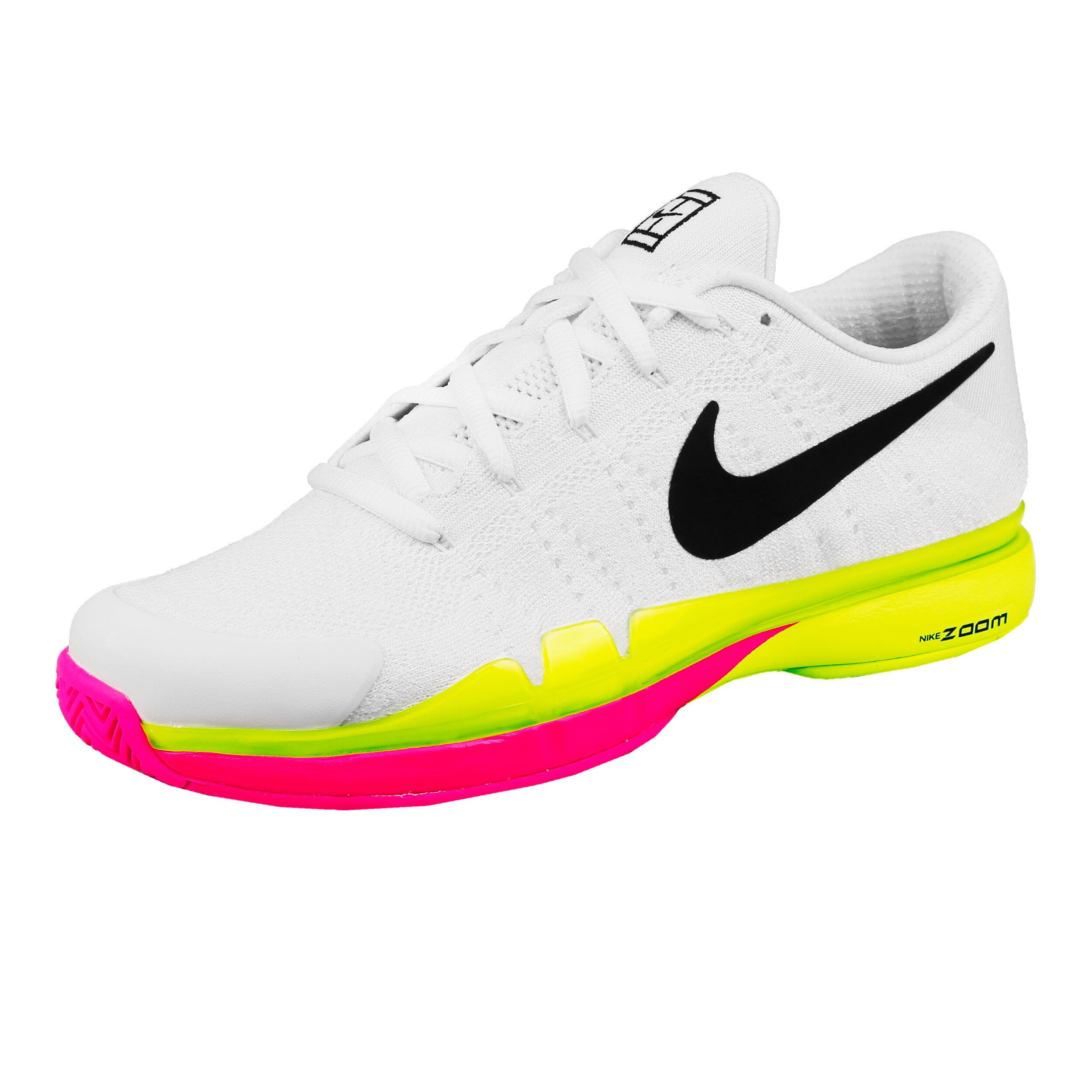 Nike Roger Federer Zoom Vapor 9.5 Tour Flyknit LE Scarpa Per Tutte Le Superfici Uomini Bianco, Giallo Neon