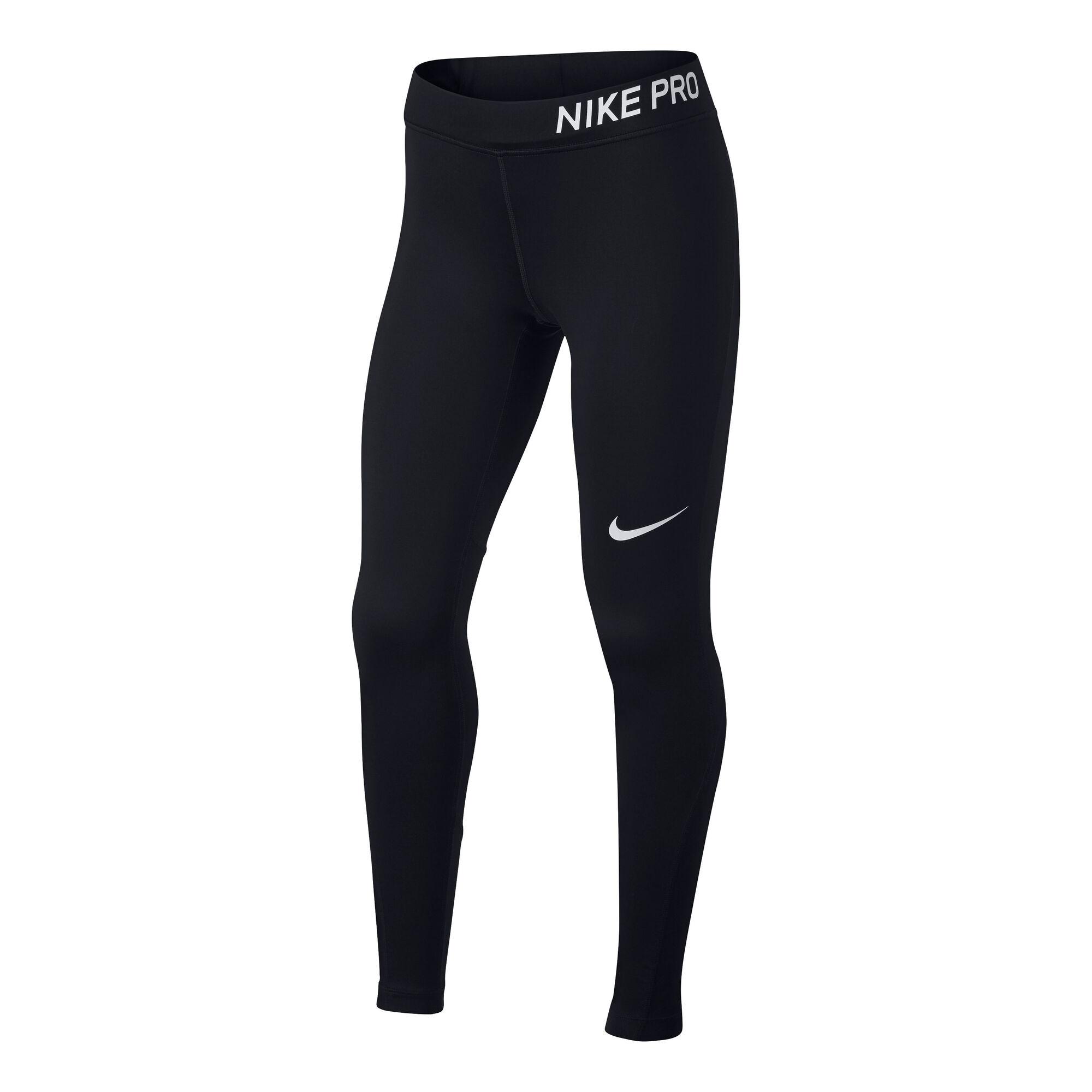 e77ccf657d Nike Pro Calzamaglia Ragazze - Nero, Bianco compra online | Tennis-Point