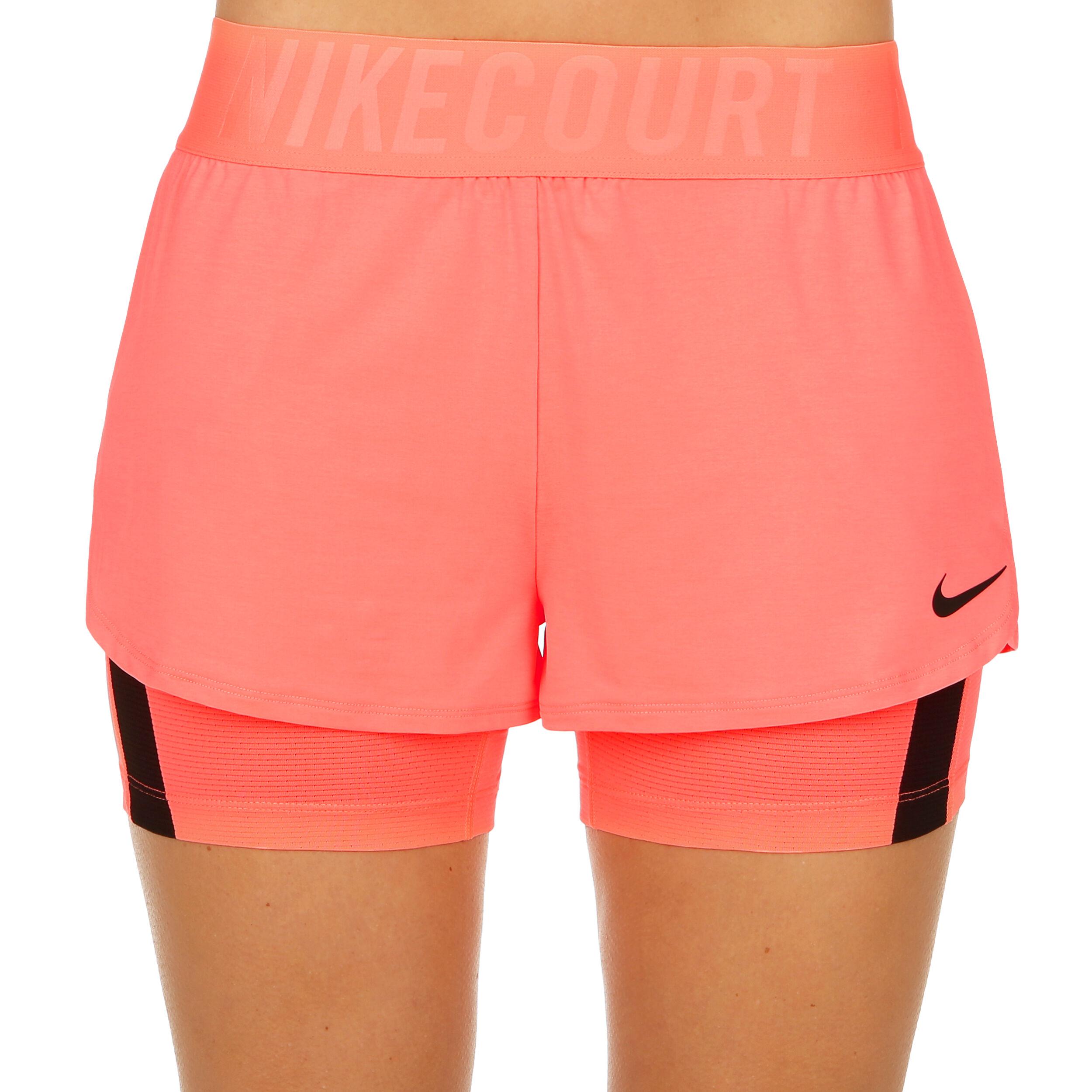 Nike Court Dry Ace Pantaloncini Donna Corallo, Nero compra