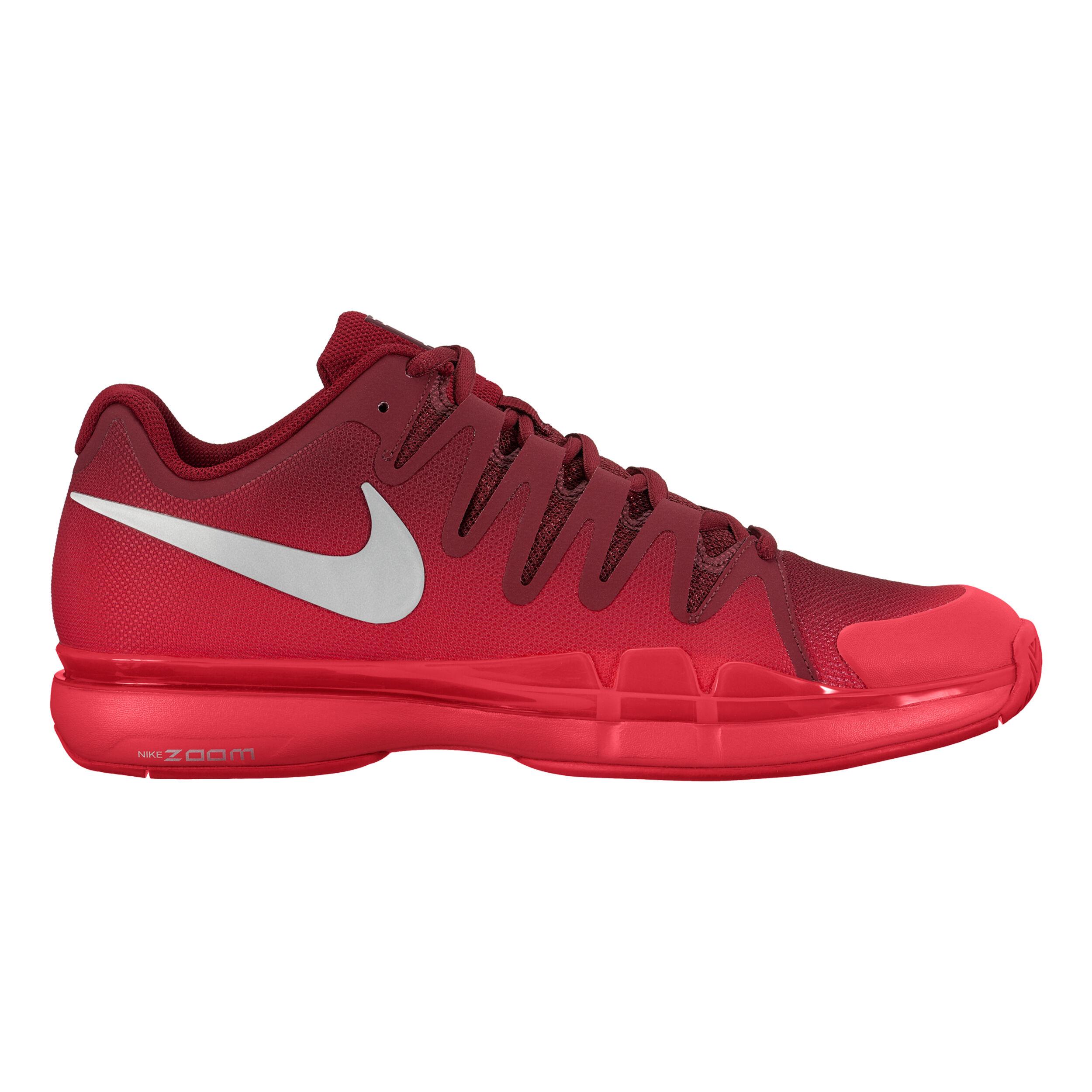 Nike Roger Federer Zoom Vapor 9.5 Tour Scarpa Per Tutte Le Superfici Uomini Rosso, Argento